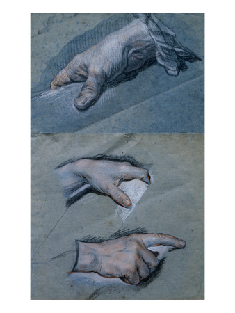 Study of the Hands of a Man