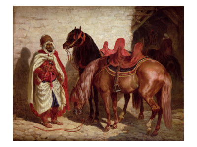 An Arab with Two Horses