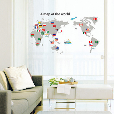 World Map with Flags Posters