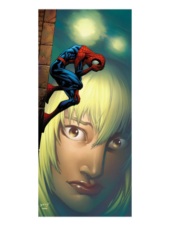 Ultimate Spider-Man No.65 Cover: Spider-Man, Stacy and Gwen Fighting