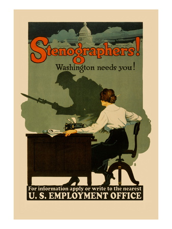 Stenographers! Washington Needs You!