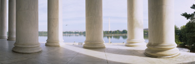 Marble Floor and Columns, Jefferson Memorial, Washington Dc USA