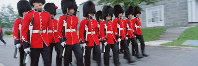 Guards Marching with Rifles ...