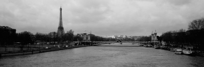 River with a Tower, Seine River, Eiffel Tower, Paris, Ile-De-France, France