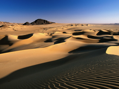 Sand Dunes of Ilekane in Tenere Part of Sahara Desert Near Agadez Photographic Print