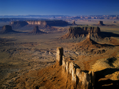 Aerial Overlook of Monument Valley