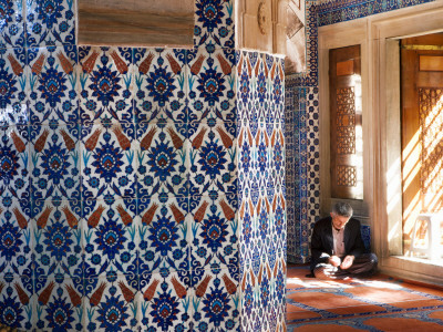 Man Praying at Rustem Pasa Mosque