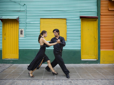 Pair of Tango Dancers Performing on ...
