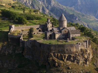 Tatev Monastery on Edge of Vorotan Canyon