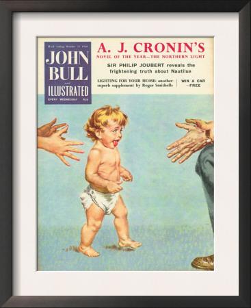 John Bull, Babies First Steps Learning To Walk Magazine, UK, 1958