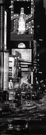 Seventh Avenue and Times Square at Night, New York Art Print
