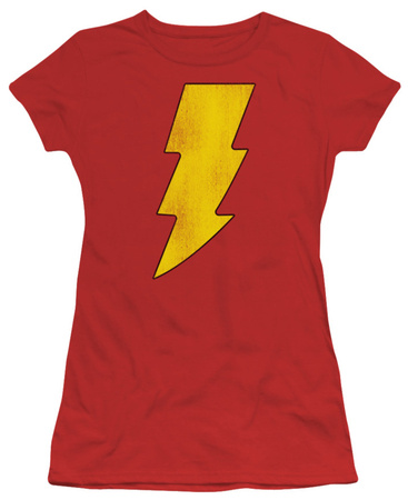 Juniors: DC-Shazam Logo Distressed