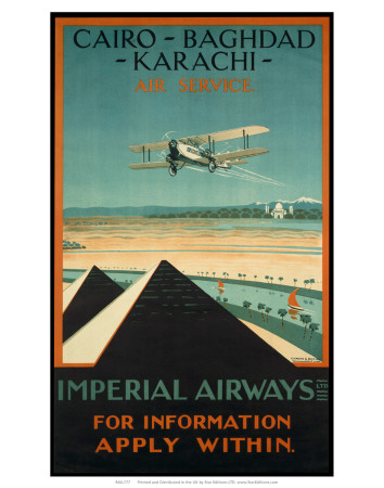 Imperial Airways travel, c.1924