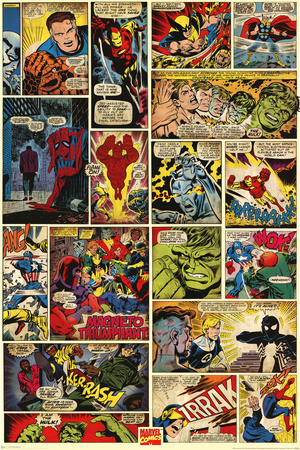 Marvel Comics (Comic Panels) Poster