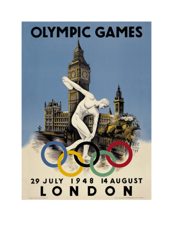 London 1948 Olympic Poster