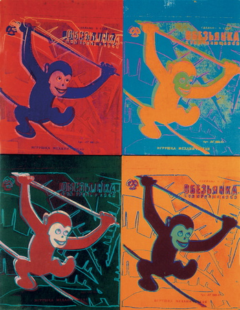 Four Monkeys lg. Posters