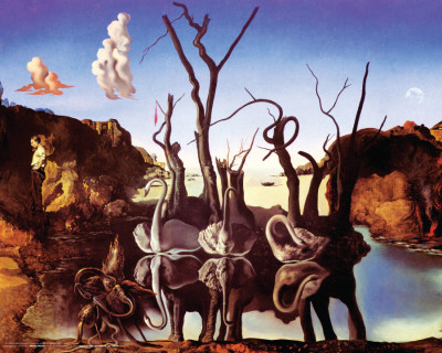 Dali - Reflection Of Elephants Posters
