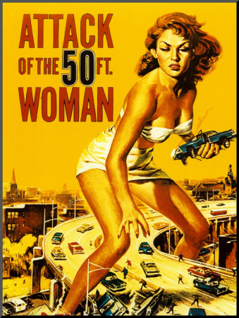 Attack of the 50 Foot Woman - Mounted Print