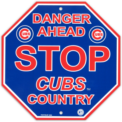 Chicago Cubs Stop Sign