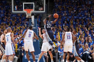 Memphis Grizzlies v Oklahoma City Thunder - Game Two, Oklahoma City, OK - MAY 3: O.J. Mayo, Nick Co