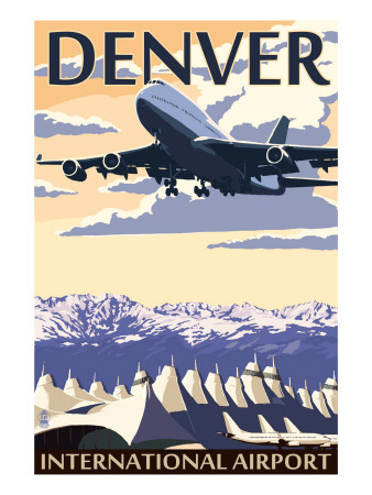Denver, Colorado - Airport View Art Print