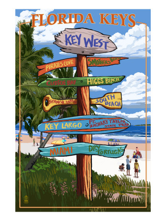 Key West, Florida - Destination Signs