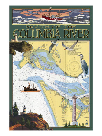 Chart of the Columbia River.