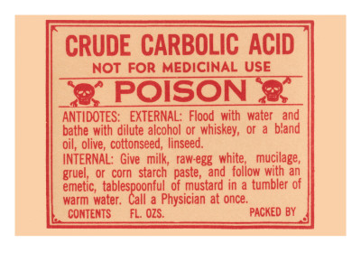 Crude Carbolic Acid - Not For Medicinal Use - Poison