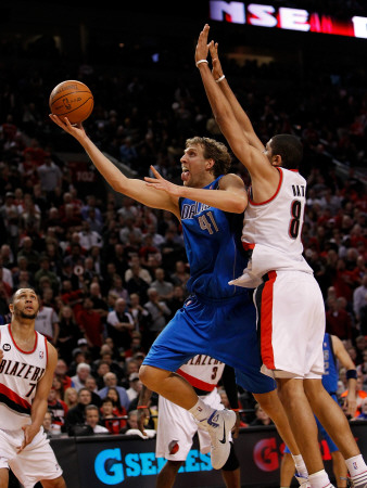 Dallas Mavericks v Portland Trail Blazers - Game Three, Portland, OR - APRIL 21: Nicolas Batum and