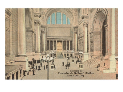 Interior of Pennsylvania Railroad Station, New York City
