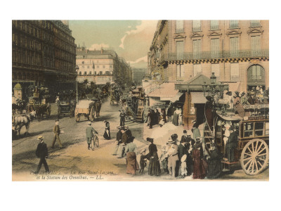 St. Lazare Street and Bus Station, Paris