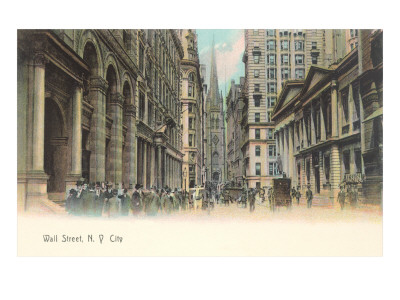 Wall Street in New York City.