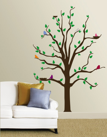 Tree With Multi-Colored Birds Posters