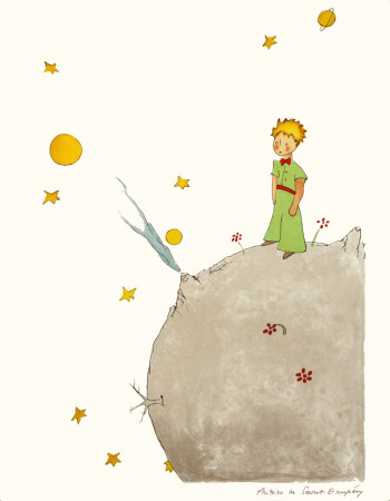 Petit Prince et son Asteroide B 612 - Art Print