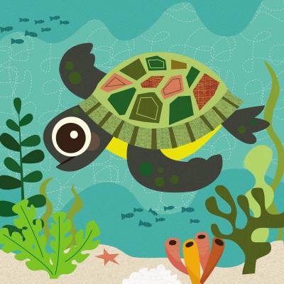 Ocean Friends, Terrance - Art Print