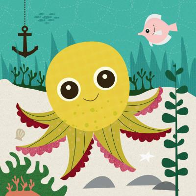 Ocean Friends, Olga - Art Print