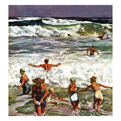 'Surf Swimming,' August 14, 1948 Posters