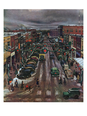 'Falls City, Nebraska at Christmas,' December 21, 1946 Posters