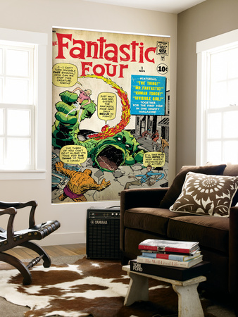 Marvel Comics Retro: Fantastic Four Family Comic Book Cover No.1 (aged)
