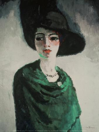 La Femme au Chapeau Noir - Art Print