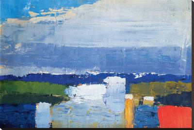 Noon Landscape - Stretched Canvas Print