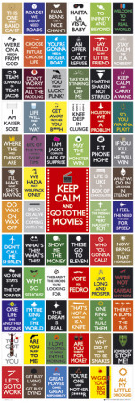 Keep Calm- Movies Posters