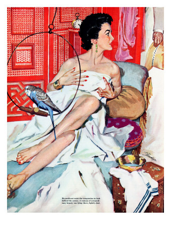 The Strange Woman- Saturday Evening Post 'Leading Ladies', October 17, 1953 pg.24 Posters