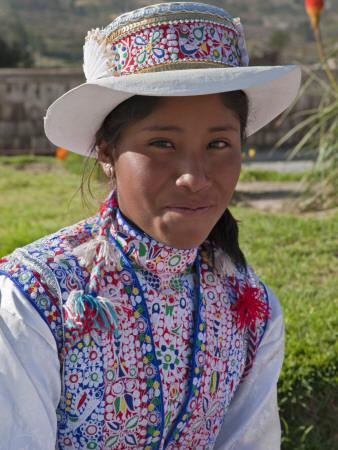 Colca Canyon Yanque woman Peru
