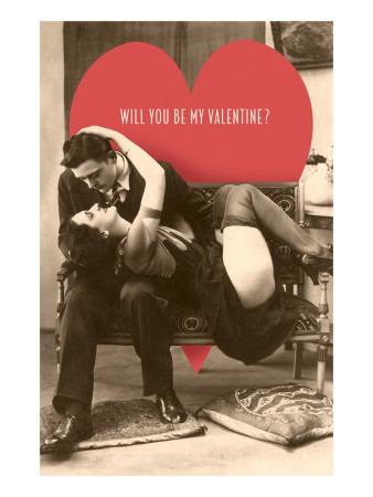 Passionate Valentine Embrace