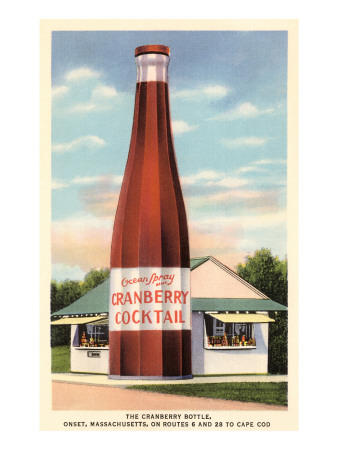 Giant Cranberry Cocktail Bottle