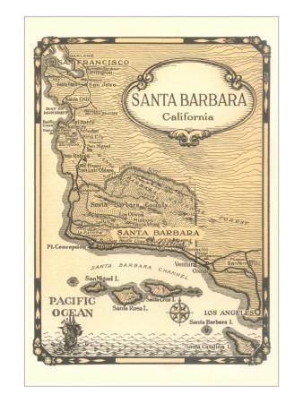 Map of Early Santa Barbara.