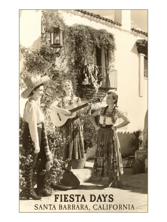 Fiesta Days, Women Singing, Santa Barbara, California