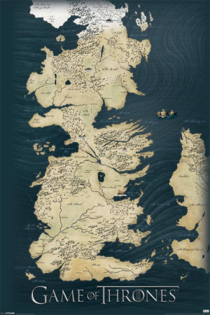 Game of Thrones-Map Television Poster