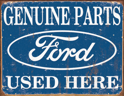 Ford Parts Used Here Posters